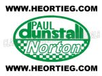 Paul Dunstall Norton Tank and Fairing Transfer Decal D20084A-4